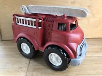 Rarely Used! GREEN TOYS  Red Fire Department Truck Fire Engine Eco Toy VGC!