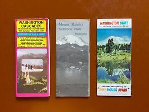 Vintage Maps/Guides/Brochures for Washington State/Cascades/Mt Rainier