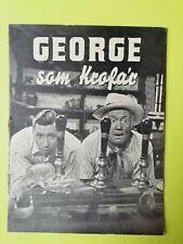 """Vintage Danish Film Program. """"George in civvy street"""" George Formby."""