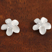 Sterling Silver 10mm Plumeria Post Earrings SE10301