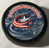 COLUMBUS BLUE JACKETS NHL OFFICIAL INGLASCO HOCKEY PUCK - SLOVAKIA SHADOW LOGO