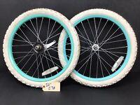 "20"" Bicycle Wheel Set w/ Tires - Rims Bmx 1.75"" Bike - Youth Kids - Complete C78"