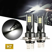 2X H7 COB LED Headlight 50W 14000LM Conversion Kit Bulbs 6000K Driving DRL Lamp