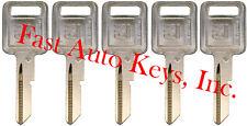 "5 NEW GM Logo OEM IGNITION ""A"" Key Blank Uncut 320588 B48P B48 01154610 50-A"