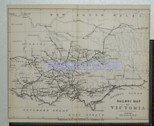 1891  Railway Map of Victoria, Australia