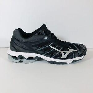 Women's Mizuno Wave Voltage Indoor Volleyball Shoe Black/Silver - Size 9