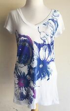 """""""Wild Flowers"""" OUT OF PRINT Boutique V-Neck by Topless California Size Medium"""