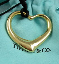 Tiffany & Co Elsa Peretti Extra Large 18K Yellow Gold 36 MM Open Heart Necklace