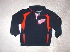 DETROIT RED WINGS Reebok zip neck Fleece Pullover Jacket Kids size 5-6
