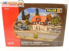 """E77N268s Faller H0 190274 Gebäude-Bausatz Bahnhof-Set """"Marbach"""" *WIE NEU*"""