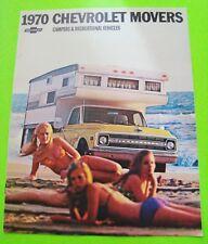 1970 CHEVY CAMPER & REC VEHICLES COLOR CATALOG BROCHURE Pick-Up SUBURBAN 4WD