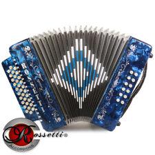 Rossetti 3112 GCF Sol 31 Button Diatonic Accordion - Blue + Case + Straps