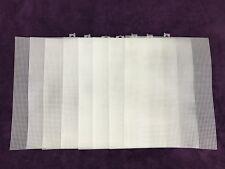 "Darice Mesh Plastic Canvas Sheets Lot 8 - 10.5"" x 13.5"" Clear"