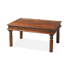 Jali Sheesham 90 cm Thakat Coffee Table Living Room Solid Wood Indian Furniture