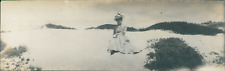 USA, Monterey (California), Miss Holbert  Vintage silver print. Panoramic View.
