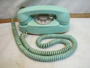 Western Electric Aqua Princess Rotary Phone Desk Telephone Light Blue