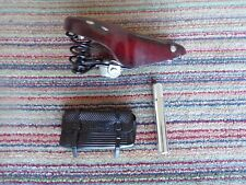 Butchers / trade / vintage bike leather saddle, clamp, seat post and free bag