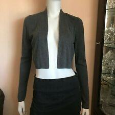 NWT Ann Taylor Gray Long Sleeve Cropped Wool Blend Open Cardigan Size Medium