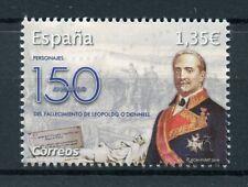 España 2018 estampillada sin montar o nunca montada Leopoldo Oâ 150th MEM 1v Set políticos militares sellos