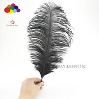 10-12 inch 50 pcs Black Ostrich Feather Plume for Wedding centerpieces Diy