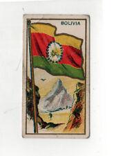 1910 BOLIVIA FLAG E15 Tobacco Card AMERICAN CARAMEL Caramels BOLIVIAN La Paz