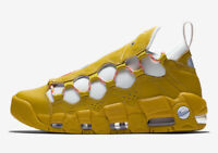 NIKE AIR MORE MONEY - DARK CITRON / TWILIGHT PULSE / WHITE - AO1749 300 - UK 7