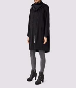 All Saints Kaito Parka/Coat With Hood in Black Size UK 8 BNWT £258