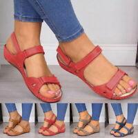 PU Leather Shoes For Women Sandals Casual Summer Shoes  Flop Platform Sandals