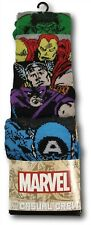 Marvel Heroes 5-Pack Casual Crew Socks for Men Fits Shoe Size 8-12
