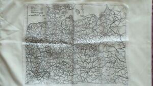 Ww2 1941 RAF Silk Escape Map Of Germany