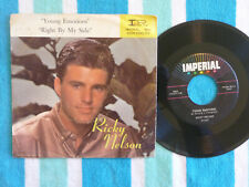 RICKY NELSON Young Emotions 45 rpm w/ PICTURE SLEEVE Imperial 1960 Teen Pop