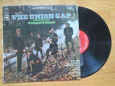 GARY PUCKETT & THE UNION GAP signed WOMAN, WOMAN 1968 Record / Album COA