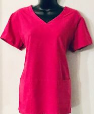 Grey's Anatomy by Barco Nursing medical scrub shirt blouse top Medium Raspberry