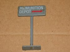 VINTAGE-COLLECTIBLE~1984 HASBRO TOY MILITARY-AMMUNITION DEPOT SIGN~PLAY SET PART