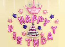 Party Decoration Reusable Foil Balloons Princess Happy Birthday Party Set + Pump