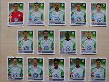 alle 14 Spielerbilder/Sticker VfL Wolfsburg Topps Bundesliga Saison 2017/18