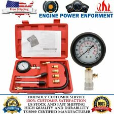 9 Pc Spark Plug Cylinder Compression Tester Test Kit Professional Gas Engine Car