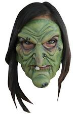 ADULT GREEN WITCH 2 PC LATEX MASK COSTUME TB27406