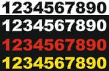 3x Startnummern, Aufkleber Motorrad, Auto, Motocross, MX, Enduro
