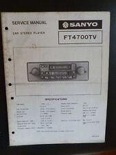 ORIGINALI service manual SANYO ft4700tv