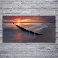 Print on Glass Wall art 120x60 Picture Image Beach Sea Landscape