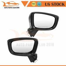 For 16-18 Toyota YARIS(SEDAN) LH+RH Side Power Signal Black Mirrors