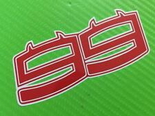 Lorenzo 99 Ducati Numbers  with BackgroundDevil Decals Stickers PAIR LARGE #192B