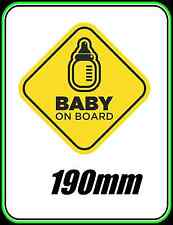 WINDOW STICKER BABY ON BOARD WARNING DECAL SIGN CHILD SAFETY CAR VEHICLE 190mm