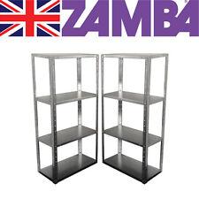 Two Bay pack bargain deal - Galv Shelving - 4 adjustable Steel Shelves UK made👍