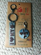 Dog Key chain & Charm Set BFF BIG furry funI LOVR MY DOG