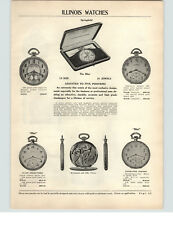 1927 PAPER AD 6 PG Illinois Pocket Watch Illini Acorn Model A Lincoln Barrister