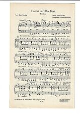 Noten für Orchester * Der Colt steckt immer im Pyjama * Das ist der Blue Beat