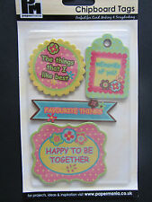 Papermania Chipboard Tags Retro Floral Collection PMA 40053