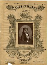 Lemercier, Paris Theatre, Mme Furch-Madier vintage print Photoglyptie  9x13